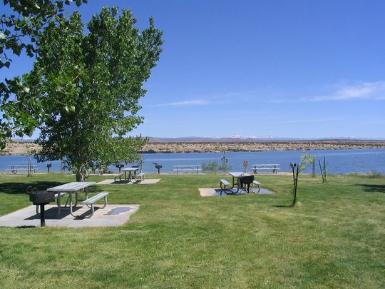 Starvation State Park & Reservoir with picnic benches and grills